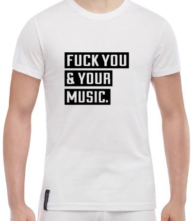 Футболка Fuck music